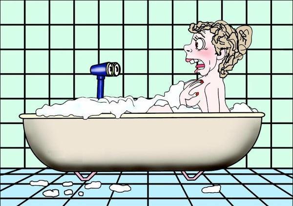 Рисунок ванны прикольные