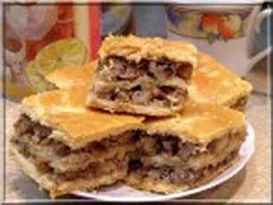 Пирог песочный с изюмом