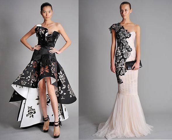 Платья из пакета бумаг