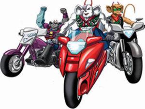 motorcycle mice cartoon - 300×225
