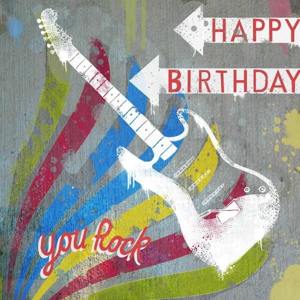 Открыток, открытки рок с днем рождения