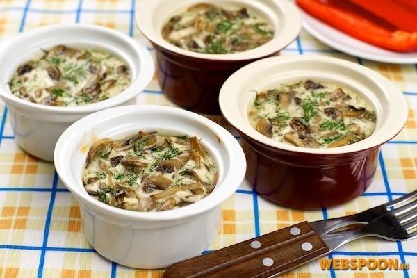 грибы со сливками рецепт с фото