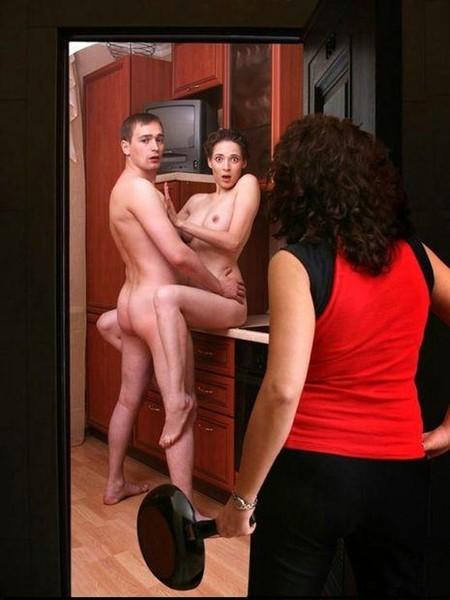 Обычного мужа жена домой придя горячем на застала порно раньше