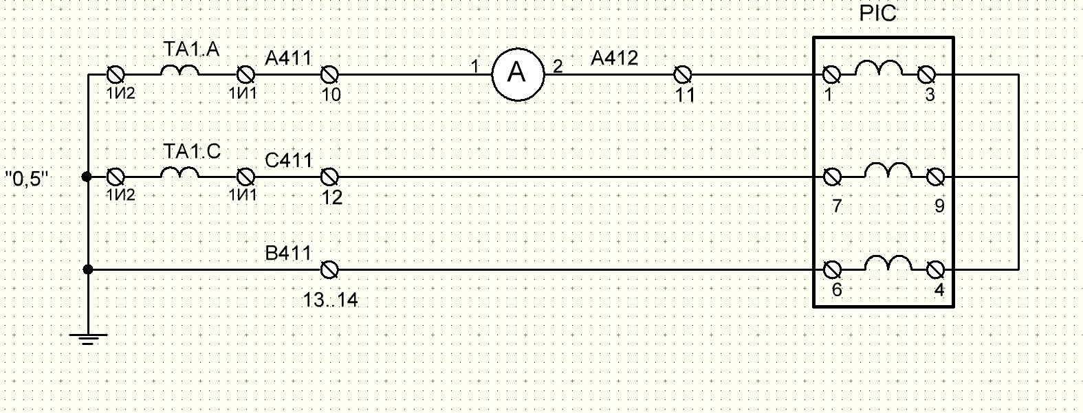 схема подключения счётчика через тт