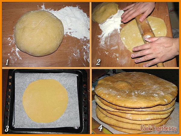 рецепт коржиков фото пошагово