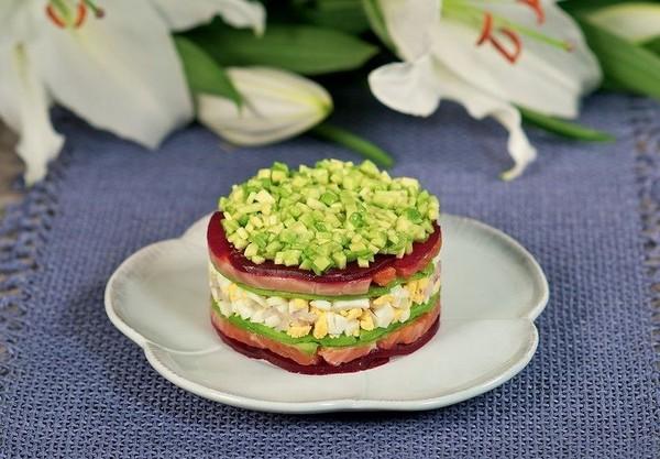 Порционные салаты рецепты фото простые
