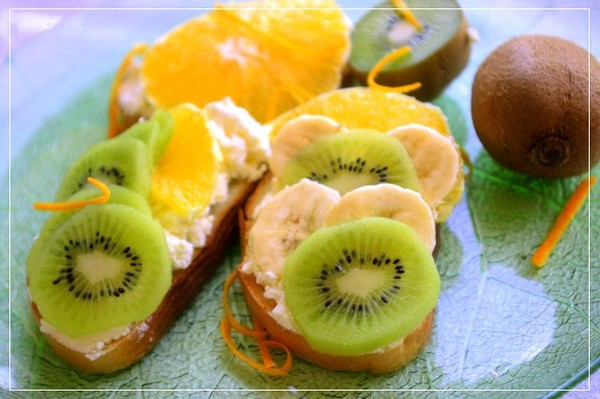 Бутерброды с фруктами рецепты с фото