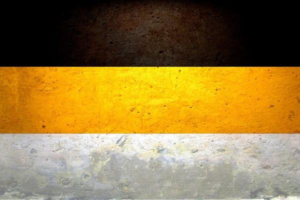 Белый черный желтый цвета флага