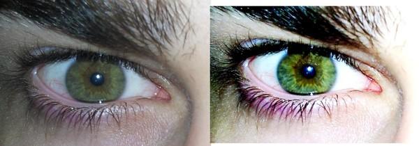 Зелено-карие цвет глаз