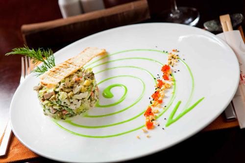 Красивая подача салатов с фото