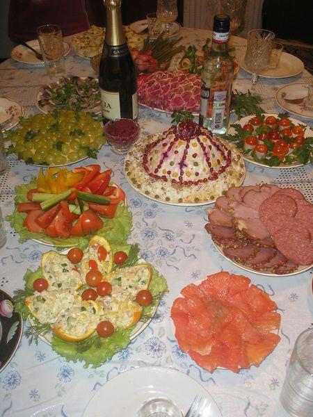 Блюда на стол на день рождения быстро