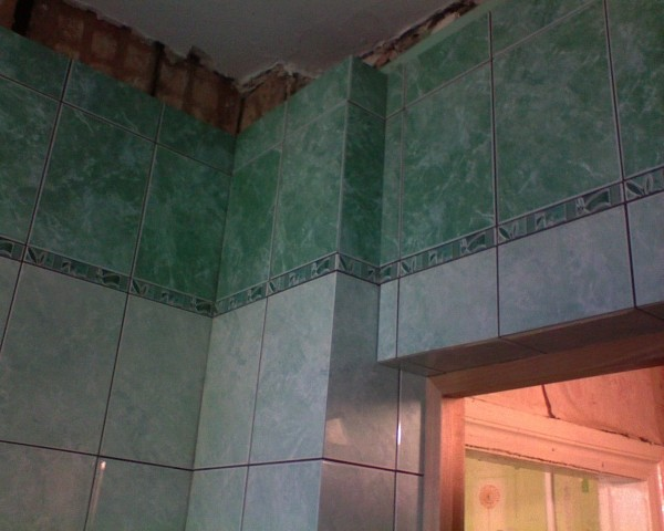 Откосы в ванной 9