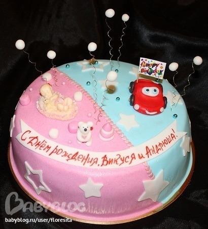 торт для двух именниников фото