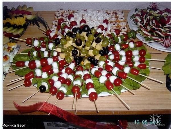 Украшения салатов и закусок с фото