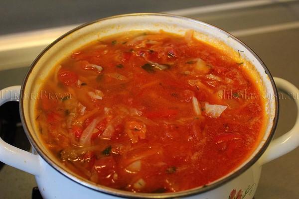 борщ рецепт с свежей капустой