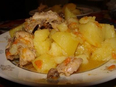 блюда из филе куриного с картошкой