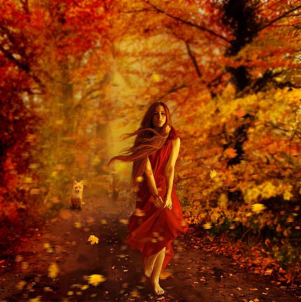 поцелуй осень картинки