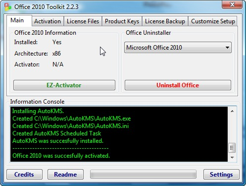 Office 2010 Toolkit and EZActivator Download 223
