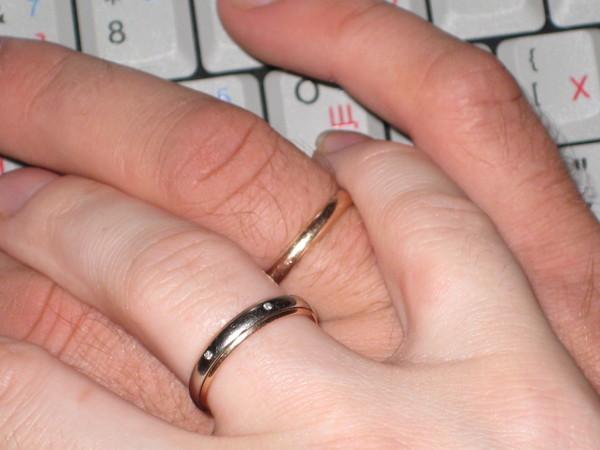 кольца обручальные фото на руке