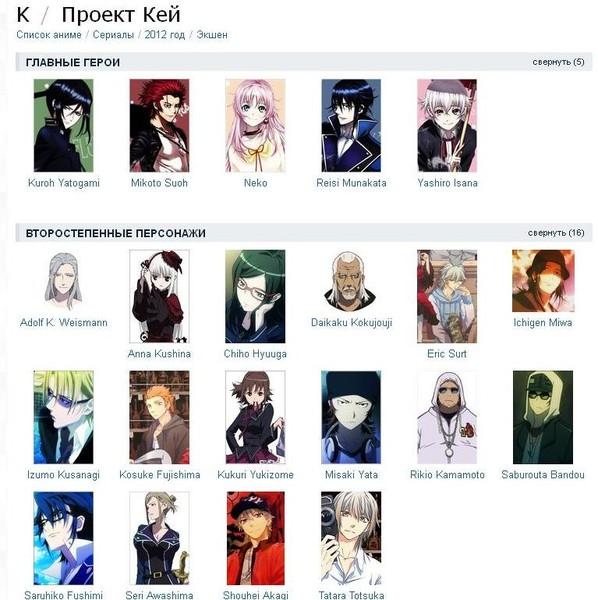 аниме картинки с именами аниме