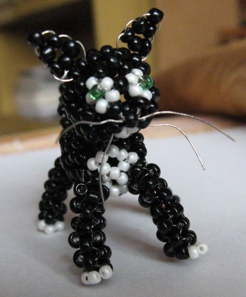 Схема кота из бисера
