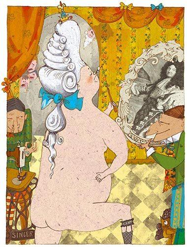 Сказка голый король рисунок