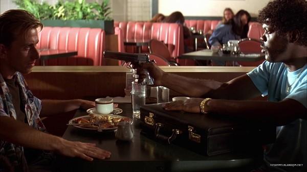 качественном криминальное чтиво эпизод с кофе так