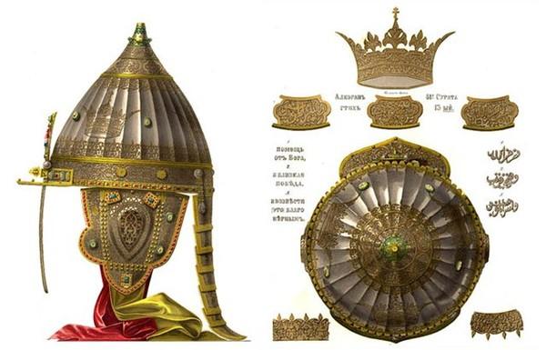 Резултат с изображение за шлем александра невского арабская вязь
