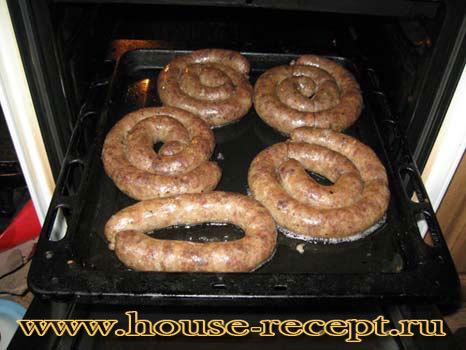 Домашняя колбаса в духовке рецепт с фото