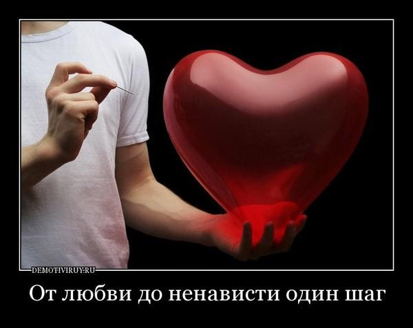 картинки от любви до ненависти один шаг