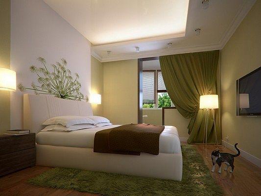 Ответы@mail.ru: посоветуйте дизайн спальни. мне стены и пото.