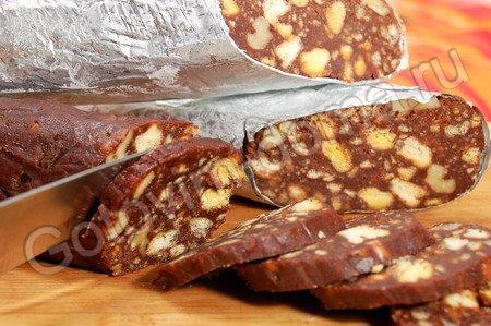 Пирожное колбаска рецепт со сгущенкой