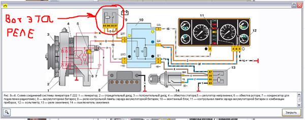 Схема зарядки ваз 2107, схема генератора ваз 2107.