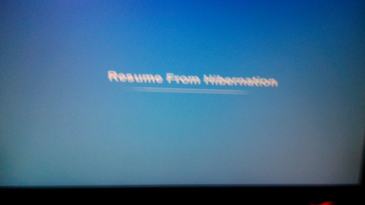 resume from hibernation