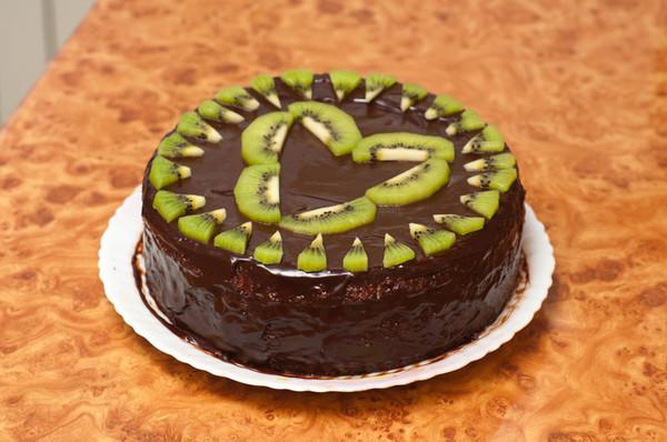 Украшение торта киви фото