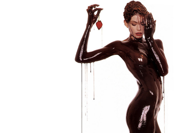 Девушка в шоколаде бесплатно