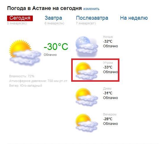 Погодада в астане на месяц