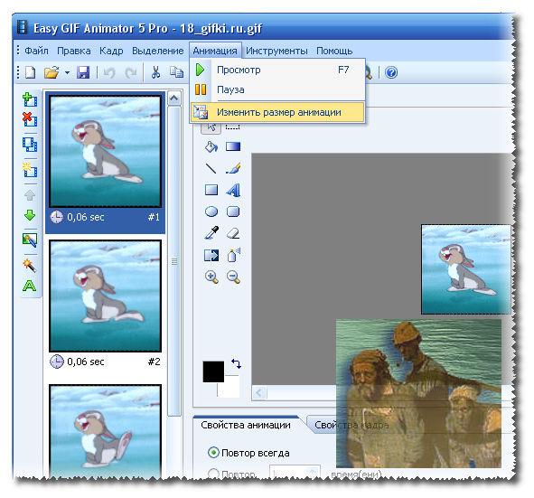 Как уменьшить размер анимированной картинки, картинки
