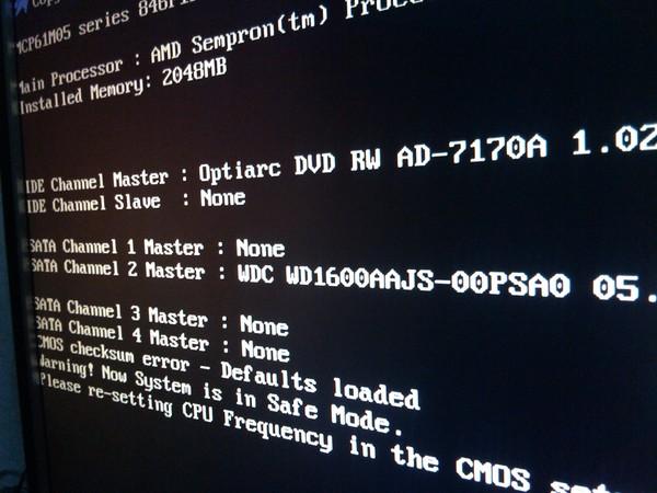 Почему при загрузке windows просит нажать f1