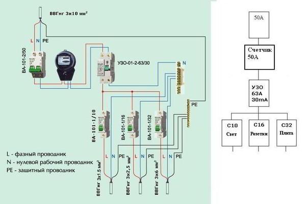 Схема подключения опс1-с