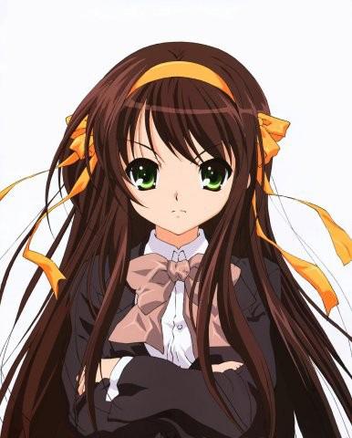 Картинки аниме девушки с голубыми глазами и коричневыми волосами 6