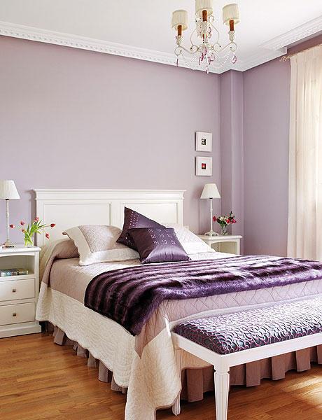 Мебель какого цвета подойдет к сиреневым обоям 7