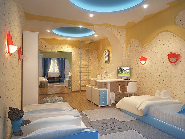 Добавят простора в комнате светлые обои с мелким неярким рисунком.