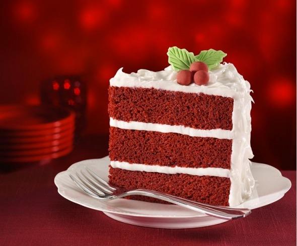 Красный бархатный торт с фото