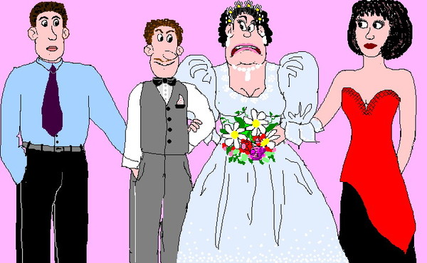по-французски удобно картинка смешные жених и невеста с над эрозии серо
