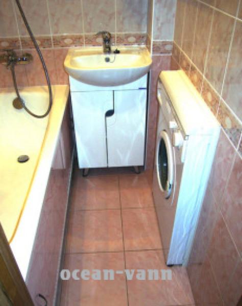 разместить стирарку в ванной фото
