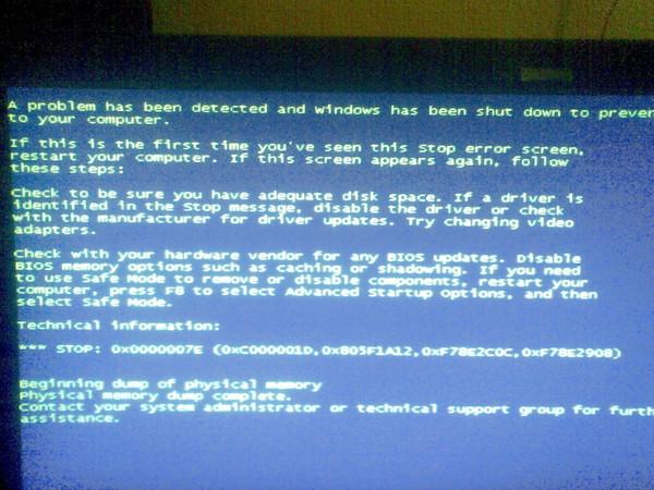 Синий экран из за чего может быть