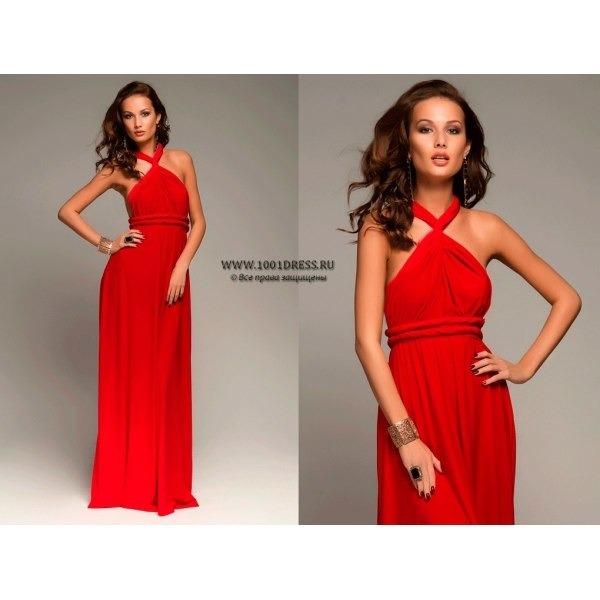 красный платье длинное доставка