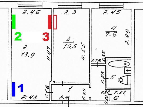 где в двухкомнатной квартире установить кондиционер