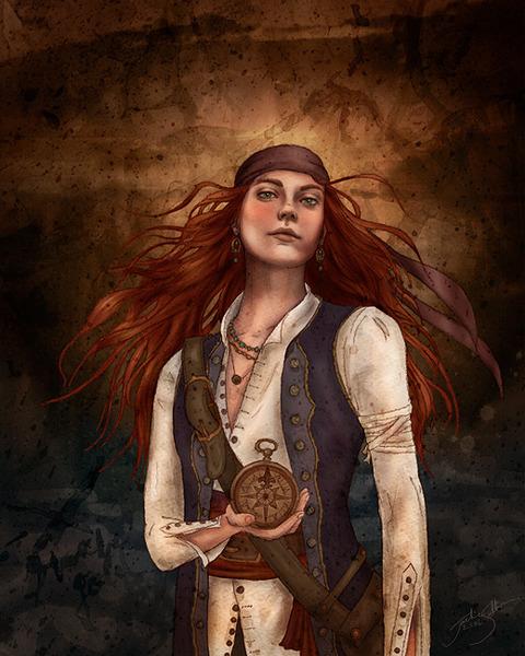 фото женщина-пират
